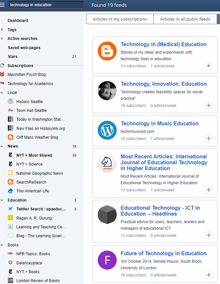 Keeping up with the news: Inoreader – Technology for Academics