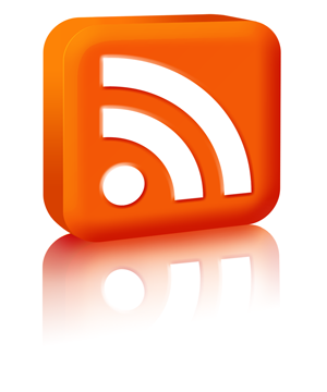 Look for this icon on webpages. It tells you an RSS feed is available.