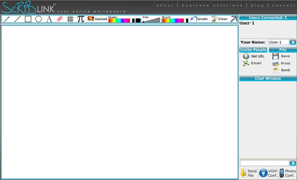 Scriblink: Blank screen